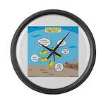 Fish School Break Large Wall Clock