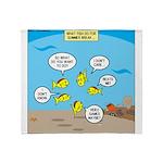 Fish School Break Throw Blanket