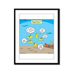 Fish School Break Framed Panel Print