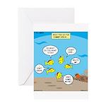 Fish School Break Greeting Card