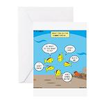 Fish School Break Greeting Cards (Pk of 20)