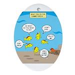 Fish School Break Ornament (Oval)