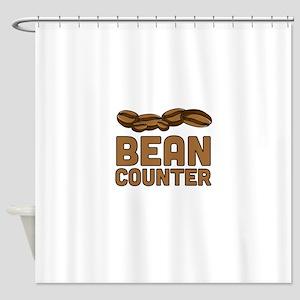 Bean counter Shower Curtain