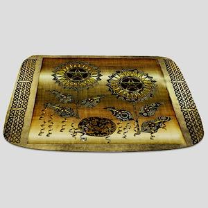 Gold Paisley Pagan World Bathmat