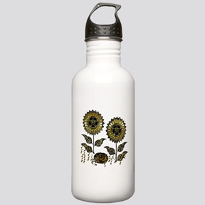 Gold Paisley Pagan Wor Stainless Water Bottle 1.0L