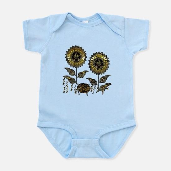 Gold Paisley Pagan World 2 Infant Bodysuit