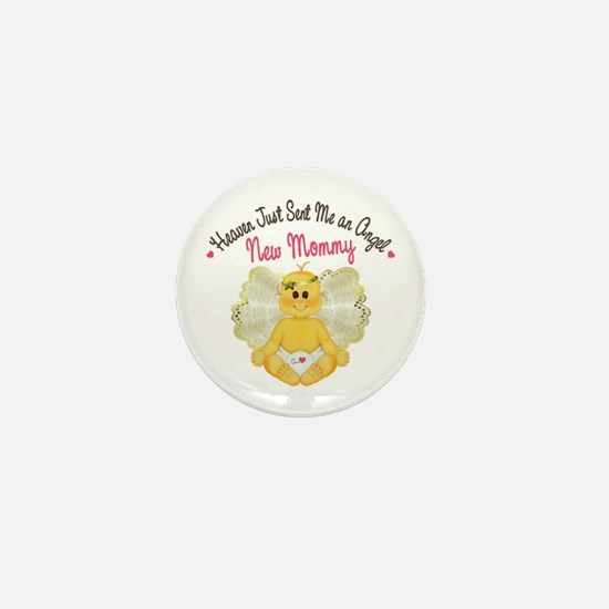 New Baby Angel Mini Button