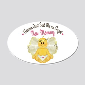 New Baby Angel 20x12 Oval Wall Decal