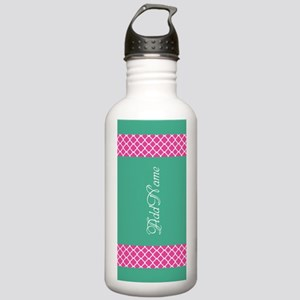 Pink Teal Quatrefoil P Stainless Water Bottle 1.0L