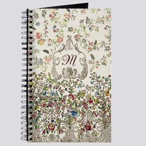 Customizable Rococo Monogram Journal