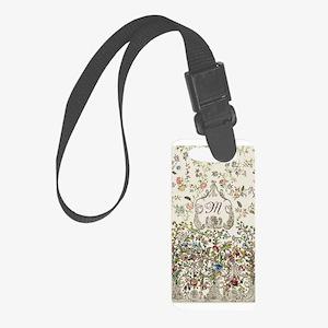 Customizable Rococo Monogram Small Luggage Tag