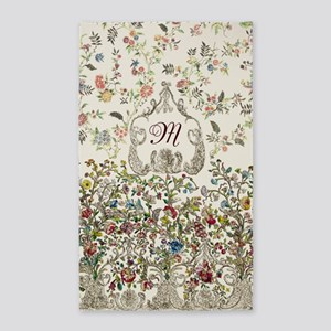 Customizable Rococo Monogram 3'x5' Area Rug