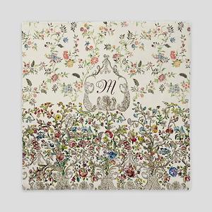 Customizable Rococo Monogram Queen Duvet