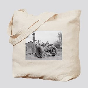 Filling the Tractor, 1940 Tote Bag