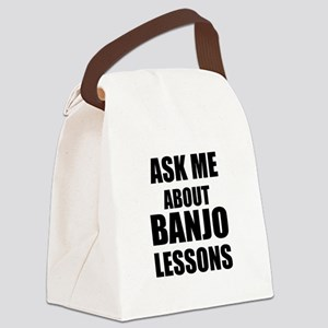 Ask me about Banjo lessons Canvas Lunch Bag