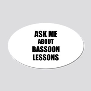 Ask me about Bassoon lessons Wall Sticker