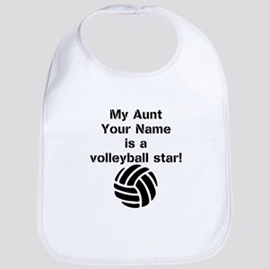 My Aunt Is A Volleyball Star (Custom) Bib