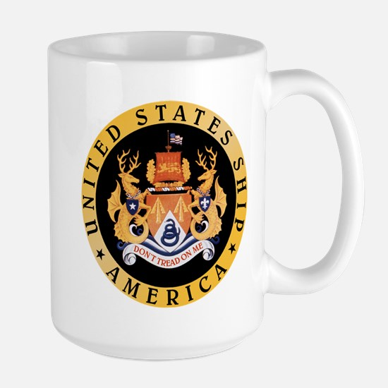 Uss America Cv-66 Large Mugs