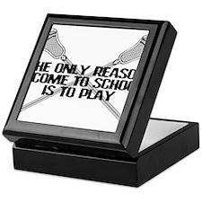 Lacrosse Only Reason Keepsake Box