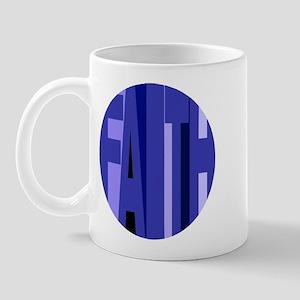 Faith (shades Of Blue) Mug Mugs