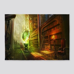 Mystical Library 5'x7'Area Rug