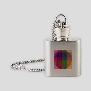 plaid faith Flask Necklace