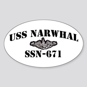 USS NARWHAL Sticker (Oval)