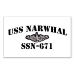 USS NARWHAL Sticker (Rectangle)