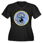 USS NARWHAL Women's Plus Size V-Neck Dark T-Shirt