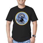 USS NARWHAL Men's Fitted T-Shirt (dark)