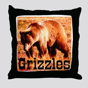 Grizzles Throw Pillow