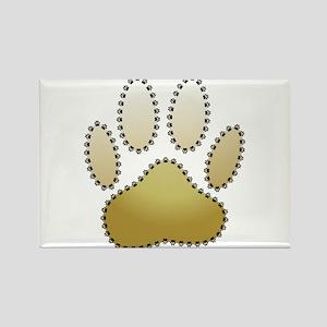 100% Dog Pawprint Magnets
