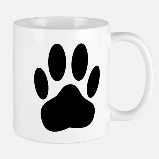 Dog Pawprint Mugs