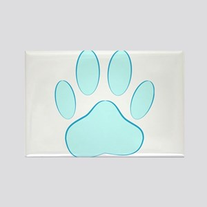 Blue Dog Pawprint Magnets