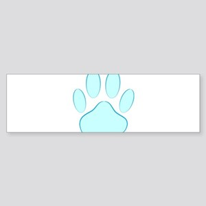Blue Dog Pawprint Bumper Sticker