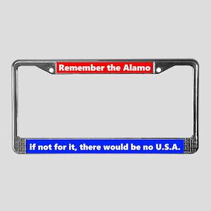 Remember The Alamo License Plate Frame