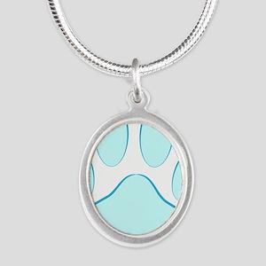 Blue Dog Pawprint Necklaces