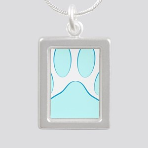 Blue Dog Pawprint Necklaces