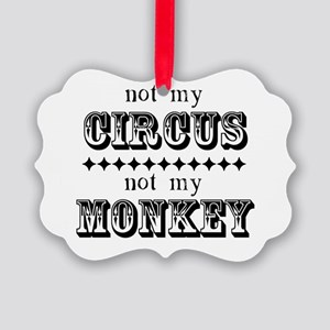 Not My Monkey (Light) Picture Ornament