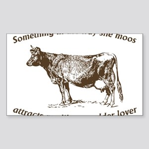 Something in the way she moos Sticker