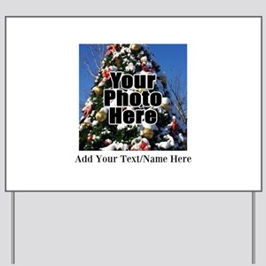 Custom Personalized Color Photo and Text Yard Sign