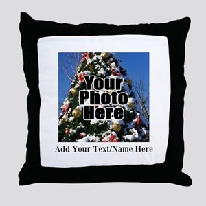 Custom Personalized Color Photo and Text Throw Pil