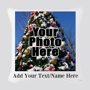 Custom Personalized Color Photo and Text Woven Thr