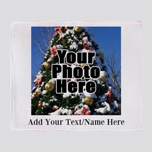 Custom Personalized Color Photo and Text Throw Bla