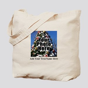 Custom Personalized Color Photo and Text Tote Bag