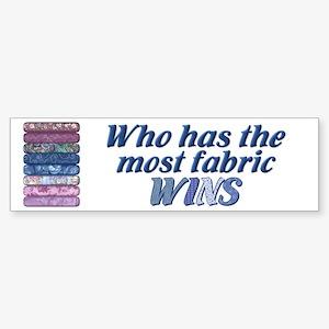 Most Fabric Blues Bumper Sticker