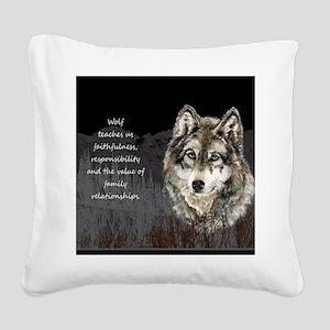 Wolf Totem Animal Spirit Guide for Inspiration Squ
