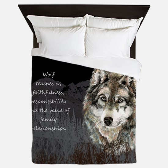Wolf Totem Animal Spirit Guide for Inspiration Que