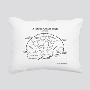 Tennis Players Brain Rectangular Canvas Pillow