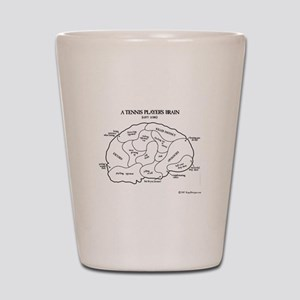 Tennis Players Brain Shot Glass